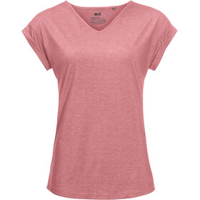 Jack Wolfskin Coral Coast T-Shirt Dames, rose quartz